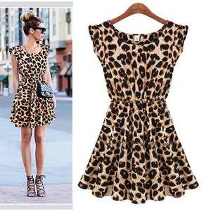 Leopard Printed, Mini Dress